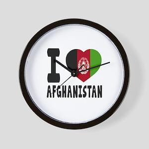 I Love Afghanistan Wall Clock