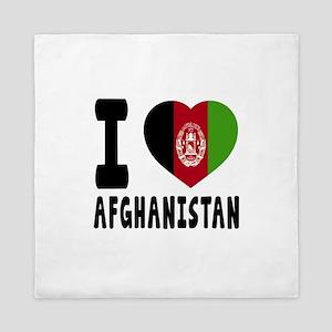 I Love Afghanistan Queen Duvet