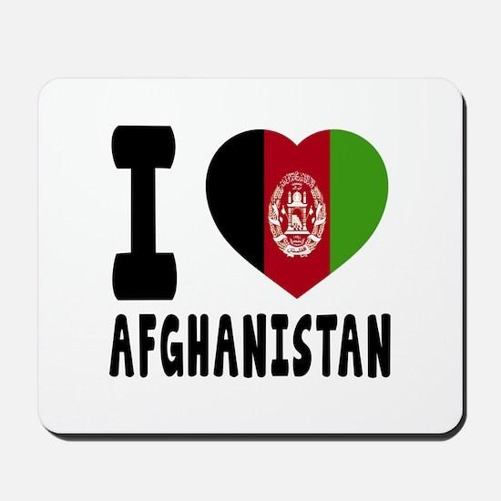 I Love Afghanistan Mousepad