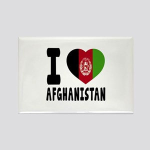 I Love Afghanistan Rectangle Magnet