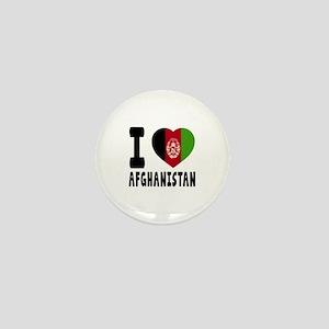 I Love Afghanistan Mini Button