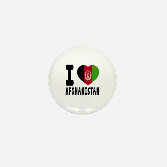 I Love Afghanistan Mini Button