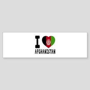 I Love Afghanistan Sticker (Bumper)
