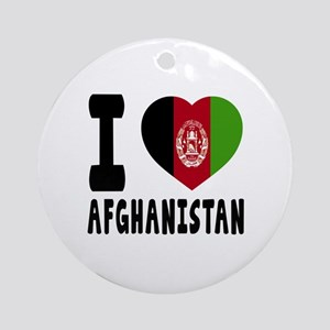 I Love Afghanistan Round Ornament