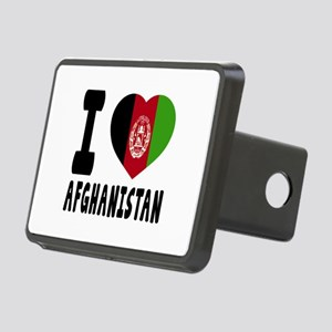 I Love Afghanistan Rectangular Hitch Cover