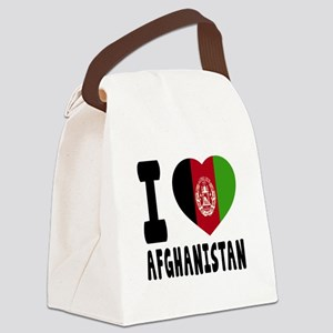 I Love Afghanistan Canvas Lunch Bag
