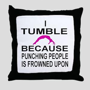 I Tumble Throw Pillow