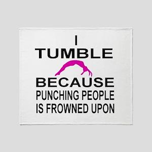 I Tumble Throw Blanket