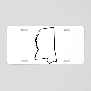 Mississippi State Outline Aluminum License Plate