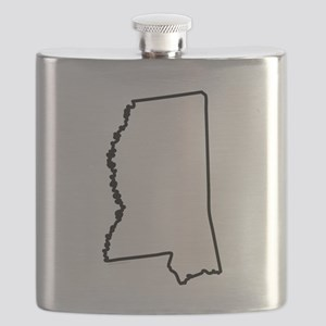 Mississippi State Outline Flask