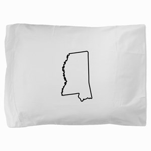 Mississippi State Outline Pillow Sham