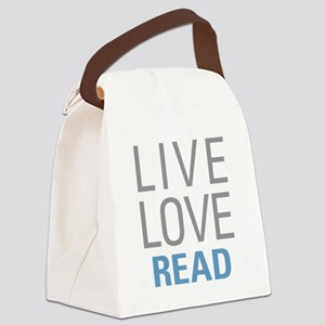 Live Love Read Canvas Lunch Bag
