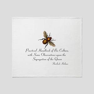 Sherlock's Bees Throw Blanket