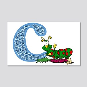 C For Caterpillar Sticker 20x12 Wall Decal
