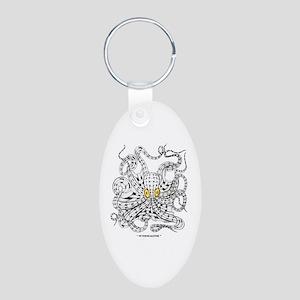 Octopocalypse Aluminum Oval Keychain