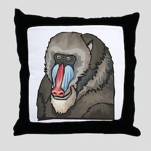 Baboon Design Throw Pillow