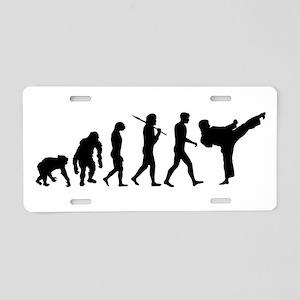 Martial Arts Evolution Aluminum License Plate