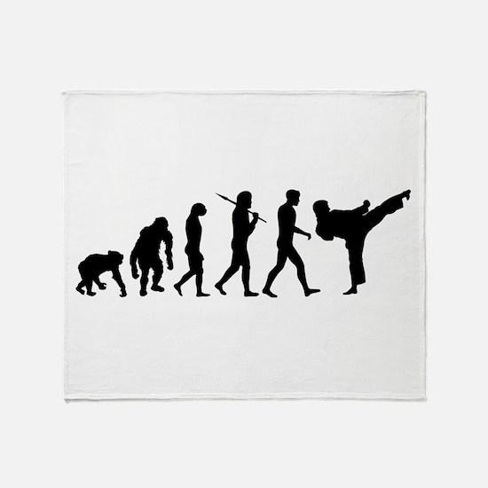 Martial Arts Evolution Throw Blanket