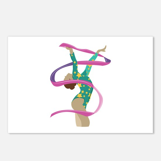 Ribbon Gymnast Postcards (Package of 8)