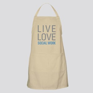 Live Love Social Work Apron