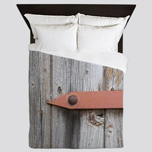 old wood Queen Duvet