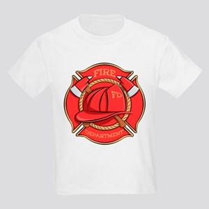 Firefighter Badge Kids Light T-Shirt