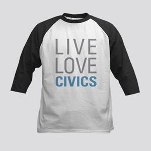 Live Love Civics Baseball Jersey