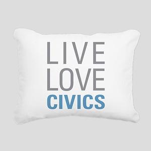 Live Love Civics Rectangular Canvas Pillow