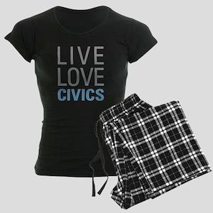 Live Love Civics Women's Dark Pajamas