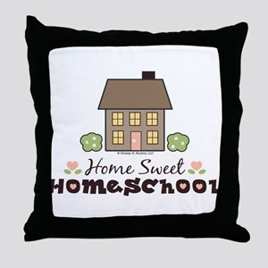 Home Sweet Homeschool Throw Pillow