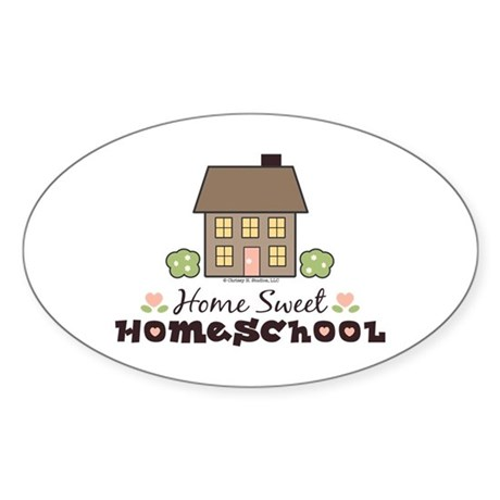 Home Sweet Homeschool Oval Sticker Gift