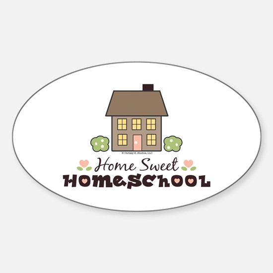 Home Sweet Homeschool Oval Sticker Gift