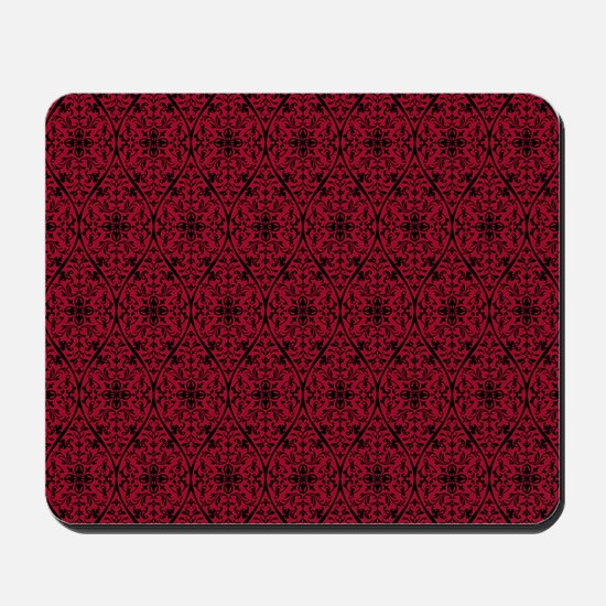 Ornate Red Gothic Pattern Mousepad