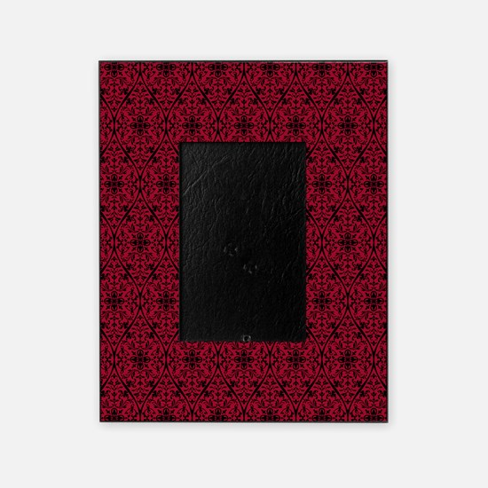 Ornate Red Gothic Pattern Picture Frame