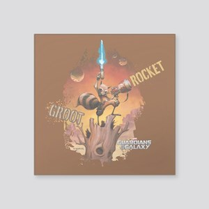 """Guardians of the Galaxy Roc Square Sticker 3"""" x 3"""""""