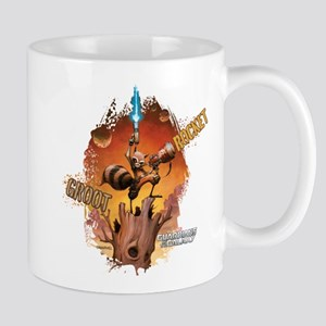 Guardians of the Galaxy Rocket and Groo Mug