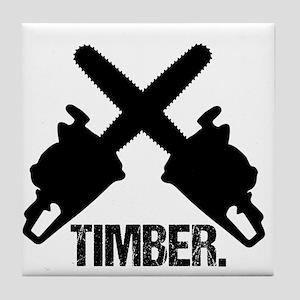 Chainsaws Tile Coaster
