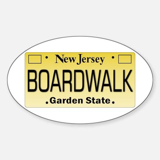Boardwalk NJ Tag Giftware Decal