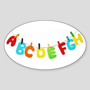 Alphabet clothesline Sticker