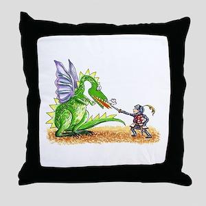 Brave Knight Throw Pillow