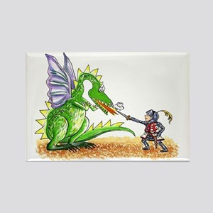 Brave Knight Rectangle Magnet
