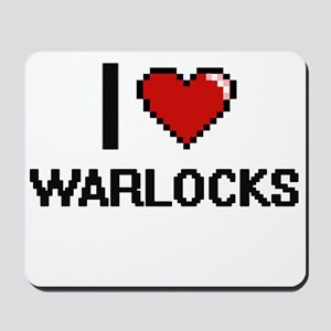 I love Warlocks digital design Mousepad