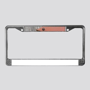 old wood License Plate Frame