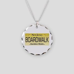 Boardwalk NJ Tag Giftware Necklace Circle Charm