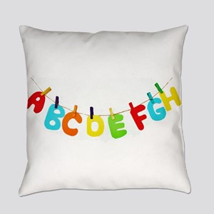 Alphabet clothesline Everyday Pillow