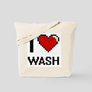 I love Wash digital design Tote Bag