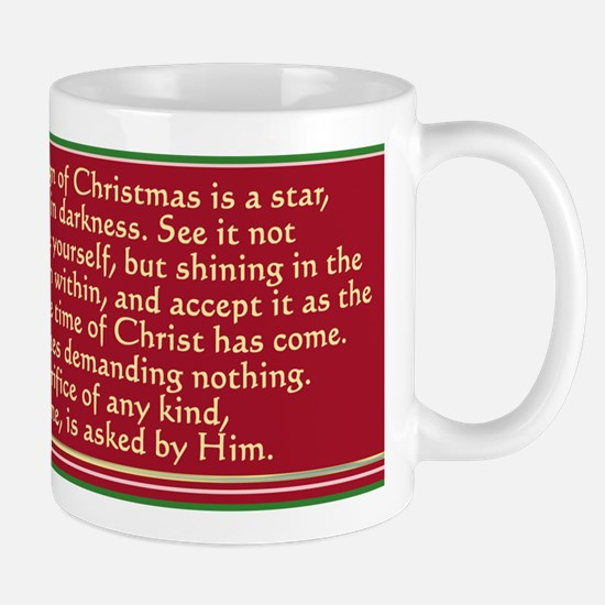 The Sign Of Christmes Is A Star. Mugs