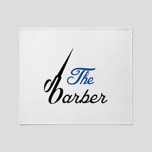 THE BABRBER Throw Blanket