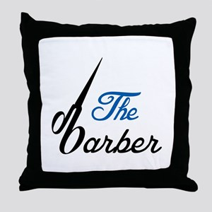 THE BABRBER Throw Pillow
