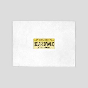 Boardwalk NJ Tag Giftware 5'x7'Area Rug